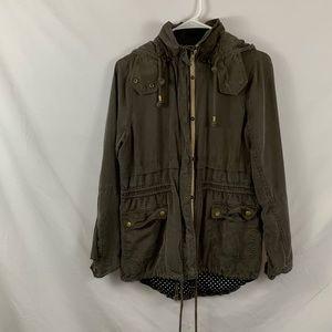 Market&spruce lightweight grey utility jacket